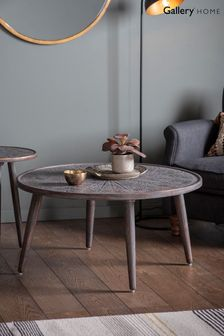 Agra Grey and Black Coffee Table By Hudson Living