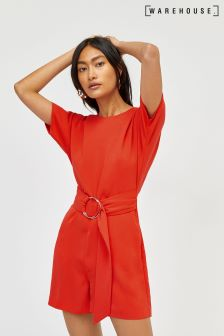 Warehouse Orange O-Ring Playsuit