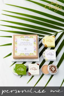 Personalised Cocktail Lip Balm Quad Gift Set By Sweet Cecilys