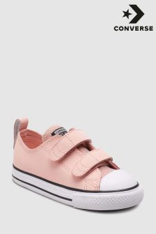 Converse Pink Glitter Velcro Trainer