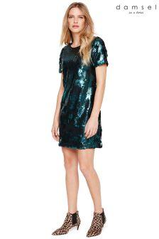 70d0279caccd07 Damsel In A Dress Green Montana Sequin Dress