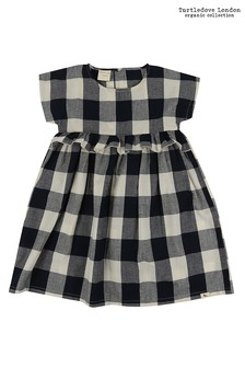 Turtledove London Black Check Woven Dress
