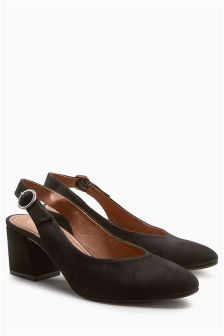 Suede Leather Slingback Shoes