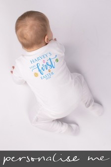 Personalised First Easter Sleepsuit by Loveabode