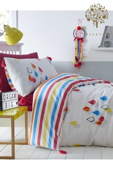 Appletree Raindrops Tassels Duvet Cover and Pillowcase Set