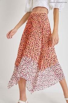 French Connection Ezeke Light Pleated Midi Skirt
