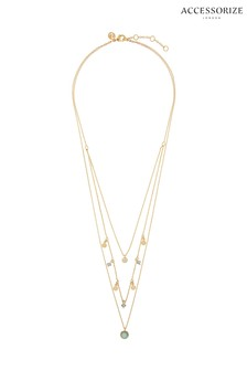 Z for Accessorize Florence Layered Precious Stone Pendant