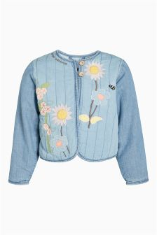 Appliqué Chambray Jacket (3mths-6yrs)