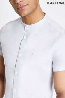 River Island Oxford Grandad Shirt