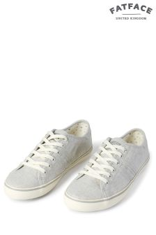 FatFace Grey Easton Lace-Up Trainer