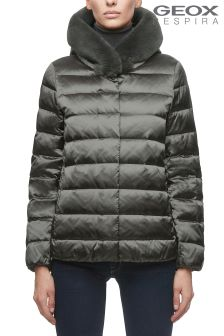 Geox Chloo Gunmetal Down Jacket