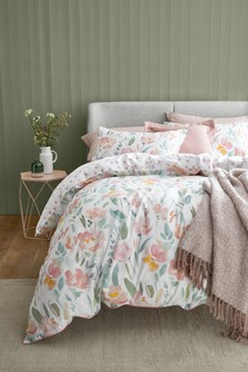 Watercolour Meadow Duvet Cover and Pillowcase Set