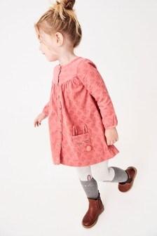 Embroidered Button Through Dress Set (3mths-7yrs)