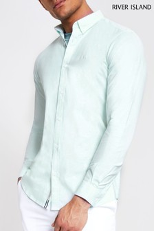 River Island Mint Green Oxford Shirt