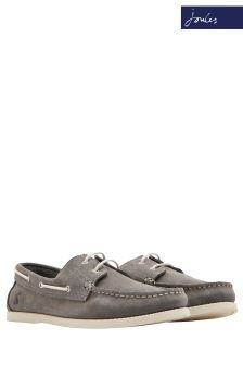 Joules Grey Swinton Boat Shoe