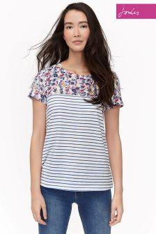 Joules Cream Ditsy Suzy jersey Wozen Mix Tshirt