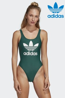 adidas Originals Green Trefoil Swimsuit