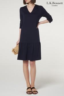 L.K.Bennett Blue Ambeline Dress