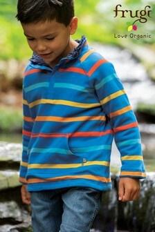 Frugi Blue Organic Cotton Fleece Lined Sweatshirt