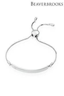 Beaverbrooks Children's Silver Diamond ID Bracelet