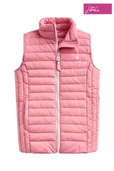 Joules Pink Croft Packable Padded Gilet