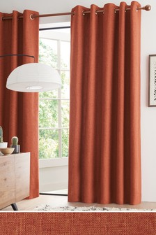 Bouclé Eyelet Lined Curtains
