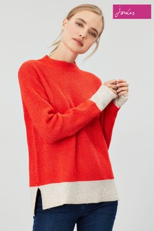 Joules Red Joley Fluffy Alpaca Jumper
