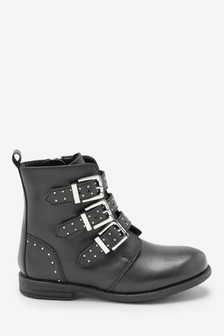 Triple Buckle Ankle Boots (Older)