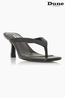 Dune London Black Marsa Mid Heel Toe Post Sandals