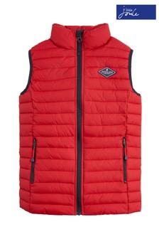 Joules Red Crofton Packaway Gilet