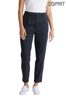 Esprit Blue Woven Chino Trousers