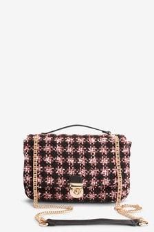Bouclé Quilted Shoulder Bag