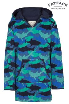 FatFace Navy Shark Camo Beach Buddy Top