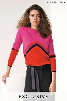 Mix/Madeleine Thompson Colourblock Chevron Knit