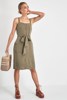 Pinafore Button Dress