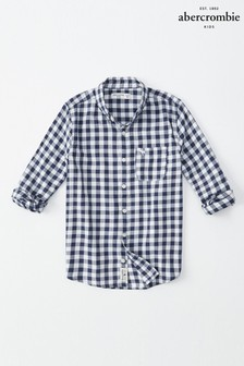 Abercrombie & Fitch Blue/White Shirt