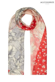 Accessorize Patchwork Floral Silk Scarf