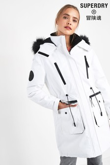 Superdry White Everest Parka