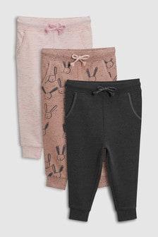 Set de trei pantaloni de trening (3 luni - 6 ani)
