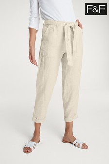 F&F Neutral Linen Trouser