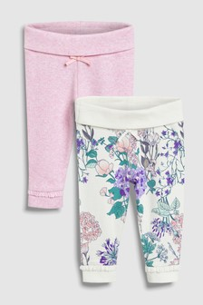 Floral Leggings Two Pack (0mths-2yrs)