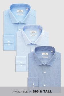 Trzy koszulki teksturowane w paski