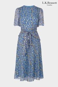 L.K.Bennett Blue Eve Dress