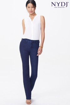 NYDJ Dark Blue Denim Marilyn Straight Leg Jean