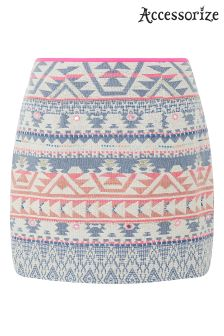 Accessorize White Giardenia Jaquard Skirt