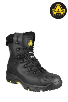 Amblers Safety Black FS999 Hi Leg Composite Safety Boots With Side Zip