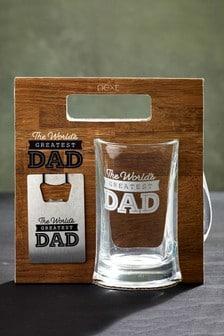 Dad Beer Glass Gift Set