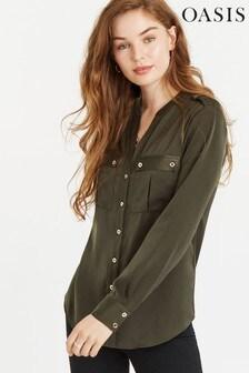 Oasis Green Military Shirt