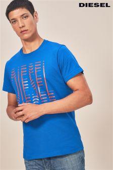 Diesel® Blue Logo T-Shirt