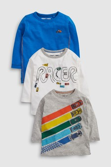 Cars Long Sleeve T-Shirts Three Pack (3mths-6yrs)